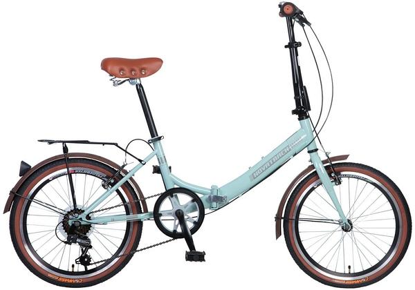 """098621 2 - Велосипед NOVATRACK AURORA, Складной, р. 12"""", колеса 20"""", цвет Синий, 2020г."""