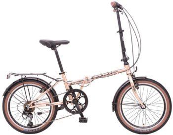 """108671 2 350x273 - Велосипед NOVATRACK AURORA, Складной, р. 12"""", колеса 20"""", цвет Золотистый, 2020г."""