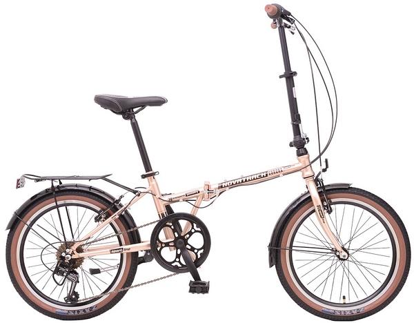 """108671 2 - Велосипед NOVATRACK AURORA, Складной, р. 12"""", колеса 20"""", цвет Золотистый, 2020г."""