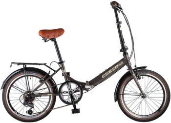"""108673 2 350x252 - Велосипед NOVATRACK AURORA, Складной, р. 12"""", колеса 20"""", цвет Коричневый, 2020г."""