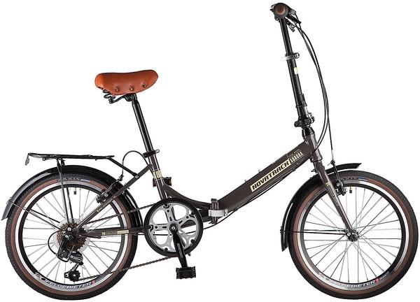 """108673 2 - Велосипед NOVATRACK AURORA, Складной, р. 12"""", колеса 20"""", цвет Коричневый, 2020г."""