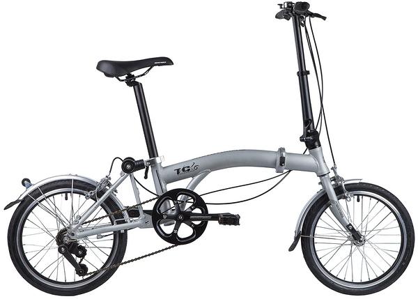 """117051 2 - Велосипед NOVATRACK TG3 , Складной, р. 11"""", колеса 16"""", цвет Серый, 2020г."""
