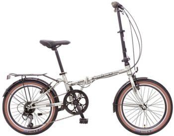 """119946 2 350x273 - Велосипед NOVATRACK AURORA, Складной, р. 12"""", колеса 20"""", цвет Серый, 2020г."""