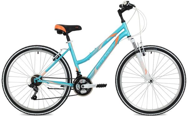 """124819 2 - Велосипед Stinger Latina, р.15, цвет Синий, 2018г., колеса 26"""""""