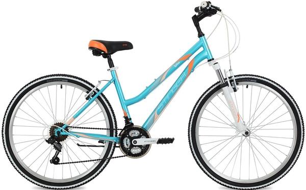 """124820 2 - Велосипед Stinger Latina, р.17, цвет Синий, 2018г., колеса 26"""""""
