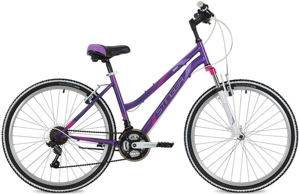 """124821 2 - Велосипед Stinger Latina, р.15, цвет Фиолетовый, 2018г., колеса 26"""""""
