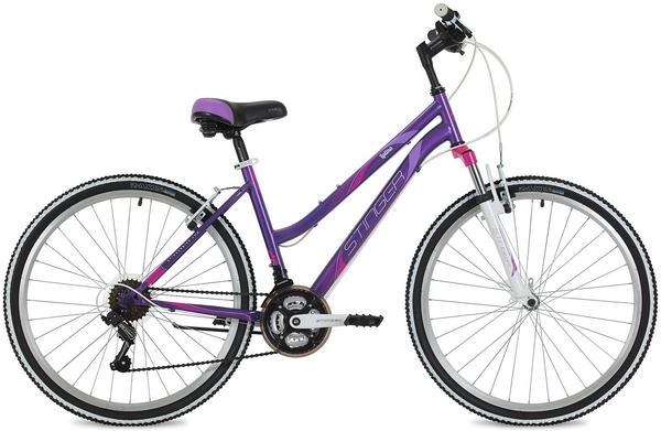 """124822 2 - Велосипед Stinger Latina, р.17, цвет Фиолетовый, 2018г., колеса 26"""""""