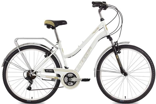 """124824 2 - Велосипед Stinger Victoria, р.17, цвет Белый, 2018г., колеса 26"""""""
