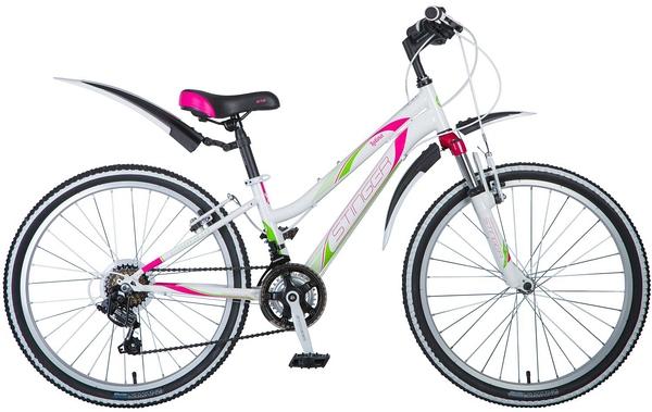 """124859 2 - Велосипед Stinger Latina, р.12, цвет Белый, 2018г., колеса 24"""""""