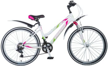 """124860 2 350x216 - Велосипед Stinger Latina, р.14, цвет Белый, 2018г., колеса 24"""""""