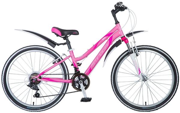 """124861 2 - Велосипед Stinger Latina, р.12, цвет Розовый, 2018г., колеса 24"""""""