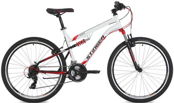 "125635 2 - Велосипед Stinger Discovery, р.18, цвет Белый, 2018г., колеса 26"""
