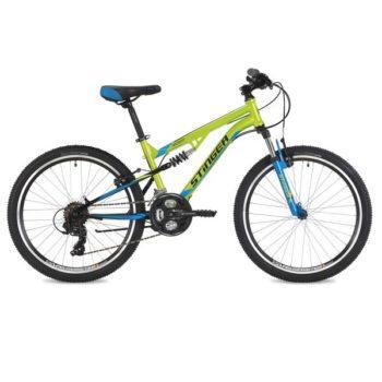 "125640 2 350x350 - Велосипед Stinger Discovery, р.14, цвет Зеленый, 2018г., колеса 24"""