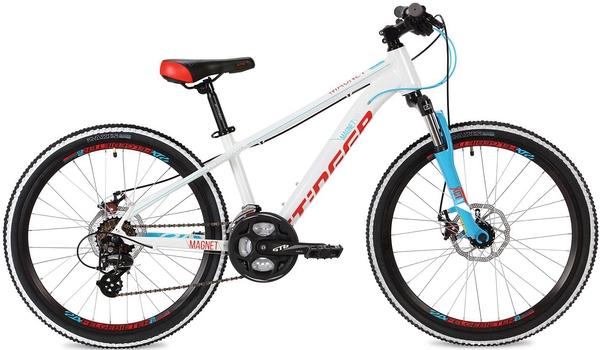 """127007 2 - Велосипед Stinger Magnet Std, р.14, цвет Белый, 2018г., колеса 24"""""""