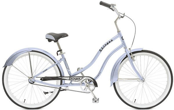 "127011 2 - Велосипед Stinger Cruiser L, р.16, цвет Синий, 2018г., колеса 26"""