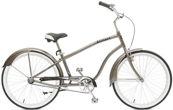 """127014 2 - Велосипед Stinger Cruiser M, р.18, цвет Коричневый, 2018г., колеса 26"""""""