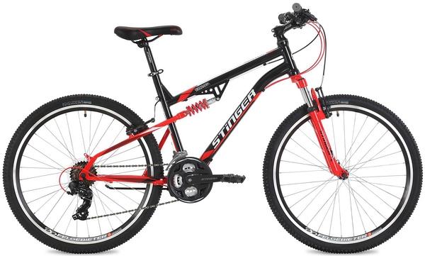 """127039 2 - Велосипед Stinger Discovery, р.16, цвет чёрный, 2018г., колеса 26"""""""