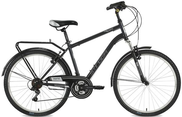 "127047 2 - Велосипед Stinger Traffic, р.20, цвет Серый, 2018г., колеса 26"""