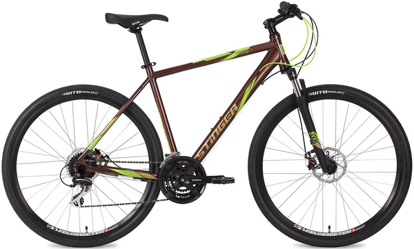 """127055 2 - Велосипед Stinger Campus Evo, р.52, цвет Коричневый, 2018г., колеса 28"""""""