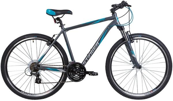 """127073 2 - Велосипед Stinger Campus Std, р.52, цвет Серый, 2018г., колеса 28"""""""