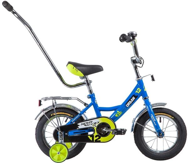 """133875 2 - Велосипед NOVATRACK URBAN, Детский, р. 8,5"""", колеса 12"""", цвет Синий, 2020г."""