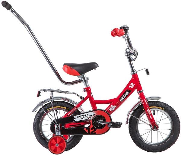 """133876 2 - Велосипед NOVATRACK URBAN, Детский, р. 8,5"""", колеса 12"""", цвет Красный, 2020г."""