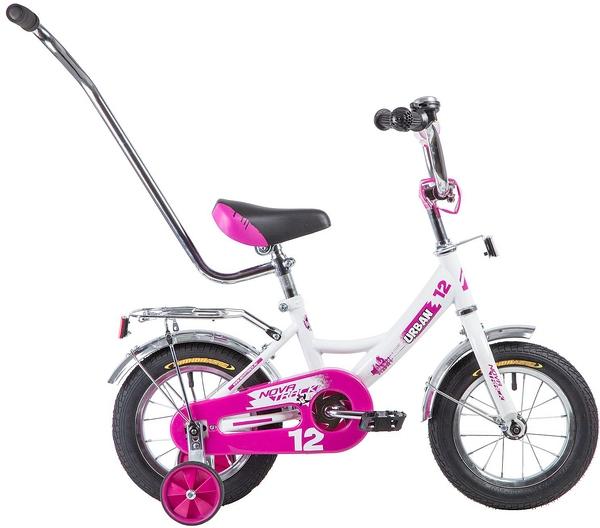 """133878 2 - Велосипед NOVATRACK URBAN, Детский, р. 8,5"""", колеса 12"""", цвет Белый, 2020г."""
