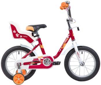 """133886 2 350x294 - Велосипед NOVATRACK MAPLE, Детский, р. 9"""", колеса 14"""", цвет Красный, 2020г."""