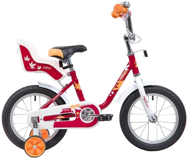 """133886 2 - Велосипед NOVATRACK MAPLE, Детский, р. 9"""", колеса 14"""", цвет Красный, 2020г."""