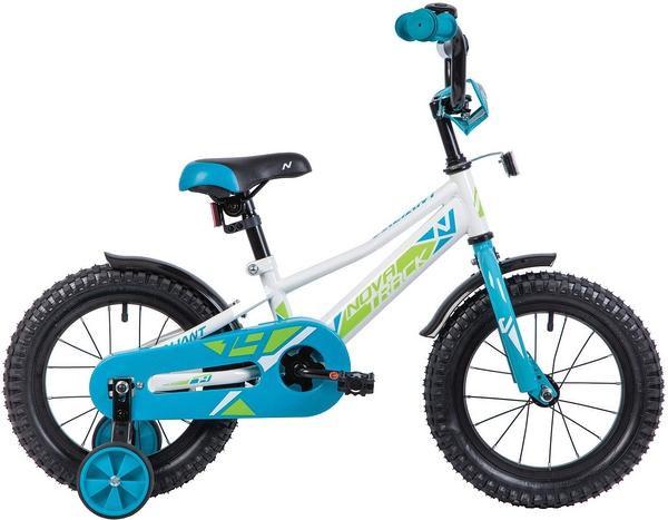 """133892 2 - Велосипед NOVATRACK VALIANT, Детский, р. 9"""", колеса 14"""", цвет Белый, 2020г."""
