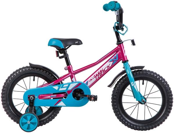 """133893 2 - Велосипед NOVATRACK VALIANT, Детский, р. 9"""", колеса 14"""", цвет Красный, 2020г."""