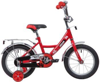 """133896 2 350x286 - Велосипед NOVATRACK URBAN, Детский, р. 9"""", колеса 14"""", цвет Красный, 2020г."""