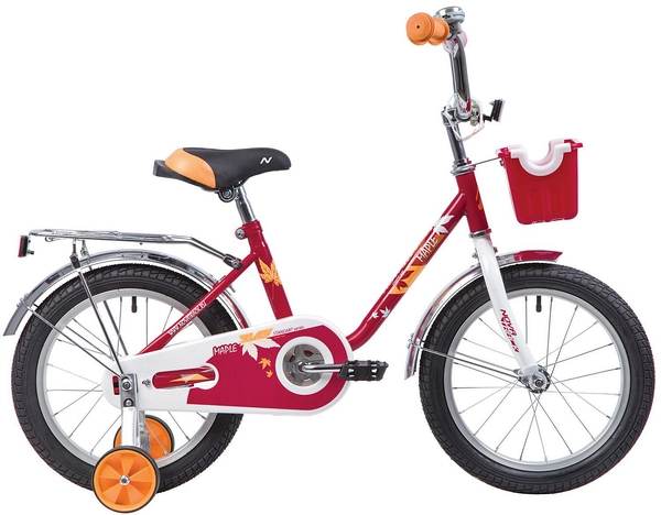 """133907 2 - Велосипед NOVATRACK MAPLE, Детский, р. 10,5"""", колеса 16"""", цвет Серый, 2020г."""