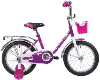 """133908 2 350x279 - Велосипед NOVATRACK MAPLE, Детский, р. 10,5"""", колеса 16"""", цвет Сиреневый, 2020г."""