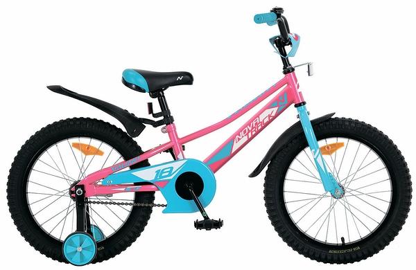 """133924 2 - Велосипед NOVATRACK VALIANT, Детский, р. 10,5"""", колеса 16"""", цвет Красный, 2020г."""