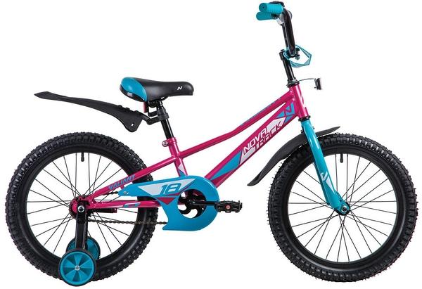 """133930 2 - Велосипед NOVATRACK VALIANT, Детский, р. 11,5"""", колеса 18"""", цвет Красный, 2020г."""