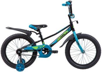 """133931 2 350x249 - Велосипед NOVATRACK VALIANT, Детский, р. 11,5"""", колеса 18"""", цвет Черный, 2020г."""