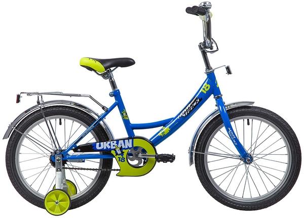 """133932 2 - Велосипед NOVATRACK URBAN, Детский, р. 11,5"""", колеса 18"""", цвет Синий, 2020г."""