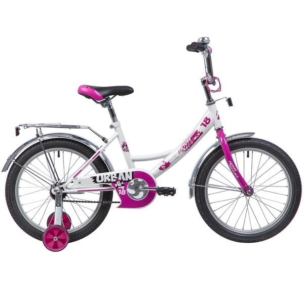 """133935 2 - Велосипед NOVATRACK URBAN, Детский, р. 11,5"""", колеса 18"""", цвет Белый, 2020г."""