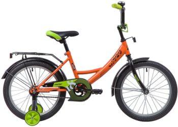 """133936 2 350x251 - Велосипед NOVATRACK VECTOR, Детский, р. 11,5"""", колеса 18"""", цвет Оранжевый, 2020г."""