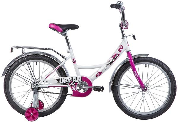 """133949 2 - Велосипед NOVATRACK URBAN, Детский, р. 12"""", колеса 20"""", цвет Белый, 2020г."""