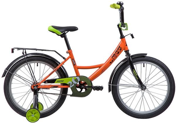 """133950 2 - Велосипед NOVATRACK VECTOR, Детский, р. 12"""", колеса 20"""", цвет Оранжевый, 2020г."""