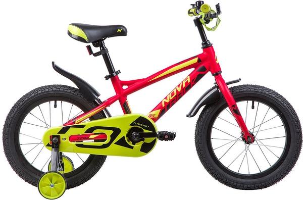 """133958 2 - Велосипед NOVATRACK TORNADO, Детский, р. 10,5"""", колеса 16"""", цвет Красный, 2020г."""