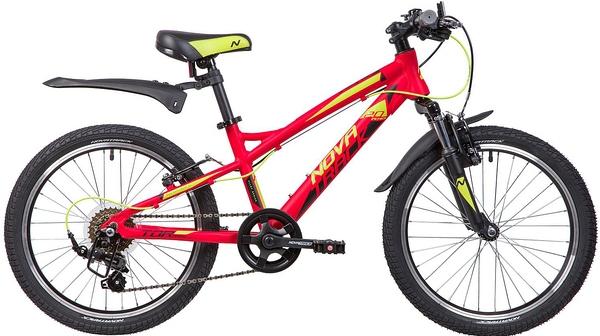 """133960 2 - Велосипед NOVATRACK TORNADO, Скоростной, р. 11,5"""", колеса 20"""", цвет Красный, 2020г."""