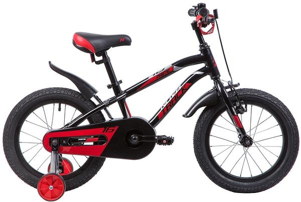 """133965 2 - Велосипед NOVATRACK PRIME, Детский, р. 10,5"""", колеса 16"""", цвет Черный, 2020г."""