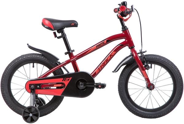 """133966 2 - Велосипед NOVATRACK PRIME, Детский, р. 10,5"""", колеса 16"""", цвет Коричневый, 2020г."""
