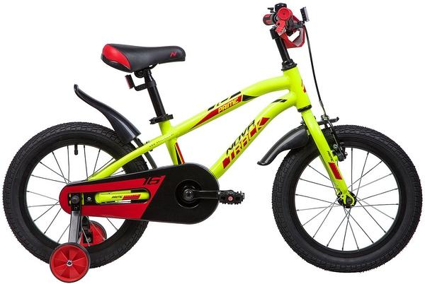 """133967 2 - Велосипед NOVATRACK PRIME, Детский, р. 10,5"""", колеса 16"""", цвет Зеленый, 2020г."""