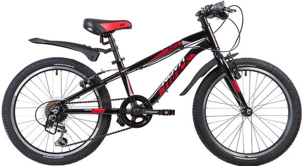"""133969 2 - Велосипед NOVATRACK PRIME, Скоростной, р. 10"""", колеса 20"""", цвет Черный, 2020г."""