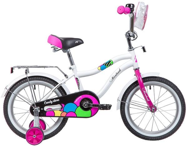 """133975 2 - Велосипед NOVATRACK CANDY, Детский, р. 10,5"""", колеса 16"""", цвет Белый, 2020г."""