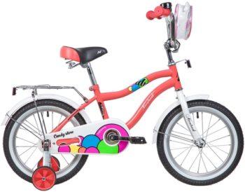 """133976 2 350x274 - Велосипед NOVATRACK CANDY, Детский, р. 10,5"""", колеса 16"""", цвет Коралловый, 2020г."""
